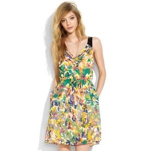 Madewell Silk Floral Dress